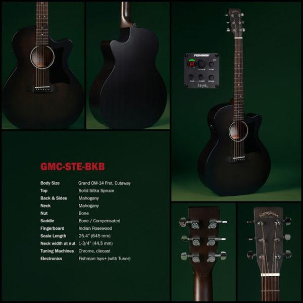 Sigma Guitars GMC-STE-BKB el-akustická kytara