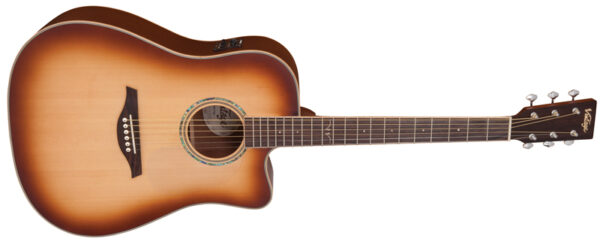 Vintage VEC501TSB dreadnought kytara/masiv Top