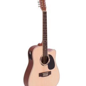 Dimavery DR-612 NA 12-strunná kytara el.-akustická